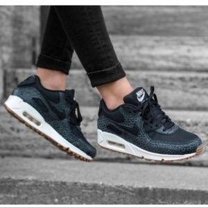 New Nike Air Max 90 Premium Black Shoes Sneakers